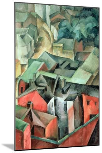 Landscape, 1917-Aleksandr Aleksandrovich Osmerkin-Mounted Giclee Print