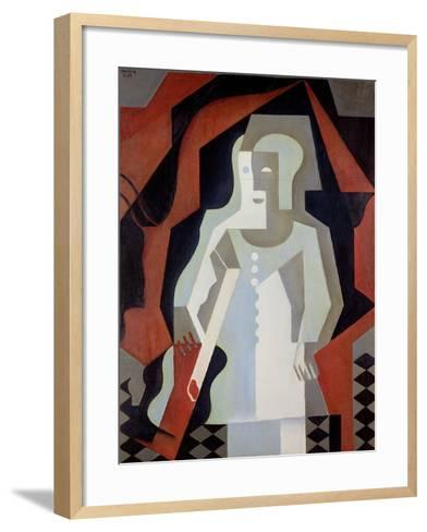 Pierrot, 1919-Juan Gris-Framed Art Print