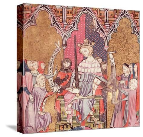 """The King Administering Justice, from """"Justiniani in Fortiatum""""--Stretched Canvas Print"""