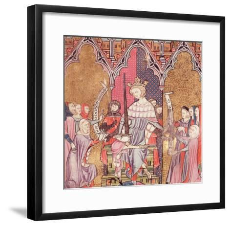 """The King Administering Justice, from """"Justiniani in Fortiatum""""--Framed Art Print"""