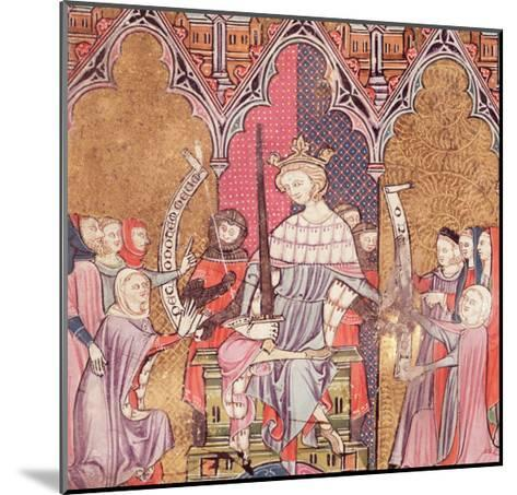 """The King Administering Justice, from """"Justiniani in Fortiatum""""--Mounted Giclee Print"""