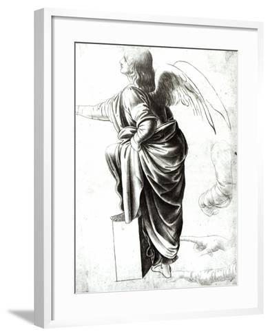 Study of an Angel-Leonardo da Vinci-Framed Art Print