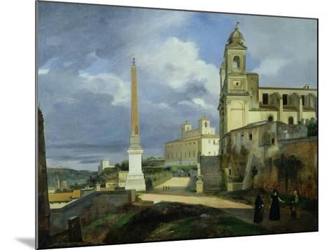 Trinita Dei Monti and the Villa Medici, Rome, 1808-Francois-Marius Granet-Mounted Giclee Print