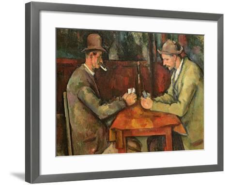 The Card Players, 1893-96-Paul C?zanne-Framed Art Print