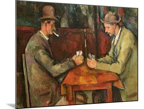 The Card Players, 1893-96-Paul C?zanne-Mounted Giclee Print