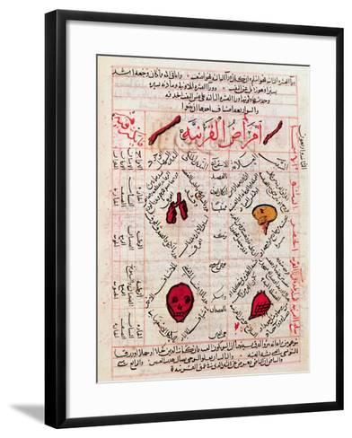 "Page from the ""Canon of Medicine"" by Avicenna--Framed Art Print"