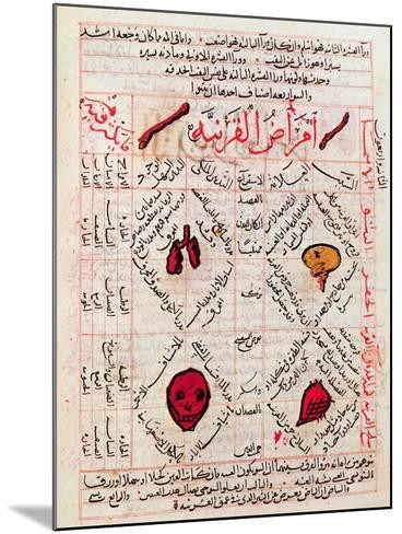 "Page from the ""Canon of Medicine"" by Avicenna--Mounted Giclee Print"