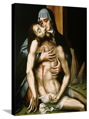 Pieta-Luis De Morales-Stretched Canvas Print