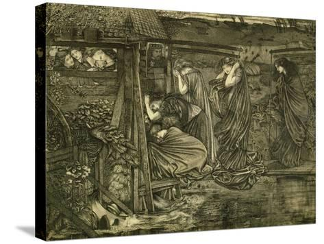 The Wise and Foolish Virgins-Edward Burne-Jones-Stretched Canvas Print