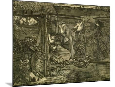 The Wise and Foolish Virgins-Edward Burne-Jones-Mounted Giclee Print