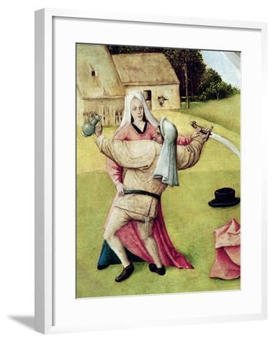 "Anger, Detail from ""The Table of the Seven Deadly Sins and the Four Last Things"", circa 1480-Hieronymus Bosch-Framed Art Print"