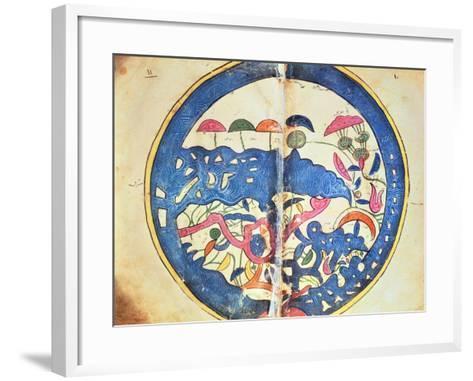 "Map of Egypt, from ""Atlas Geographique""-Abu Abdallah Muhammad Al-Idrisi-Framed Art Print"