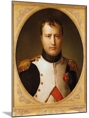 Portrait of Napoleon in Uniform-Francois Gerard-Mounted Giclee Print