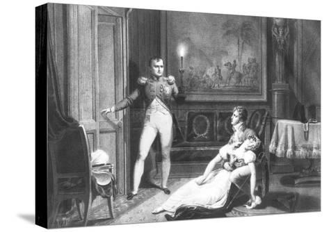 The Divorce of Napoleon I and Josephine Tascher de La Pagerie 30th November 1809-Charles Abraham Chasselat-Stretched Canvas Print