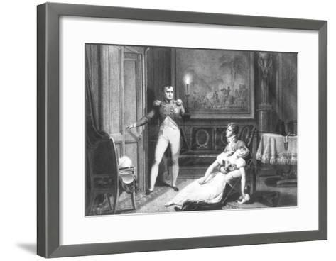 The Divorce of Napoleon I and Josephine Tascher de La Pagerie 30th November 1809-Charles Abraham Chasselat-Framed Art Print