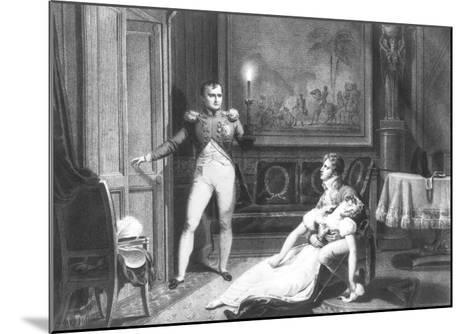 The Divorce of Napoleon I and Josephine Tascher de La Pagerie 30th November 1809-Charles Abraham Chasselat-Mounted Giclee Print