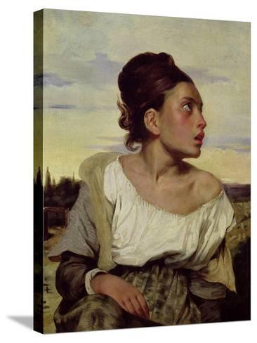 Young Orphan in the Cemetery, 1824-Eugene Delacroix-Stretched Canvas Print