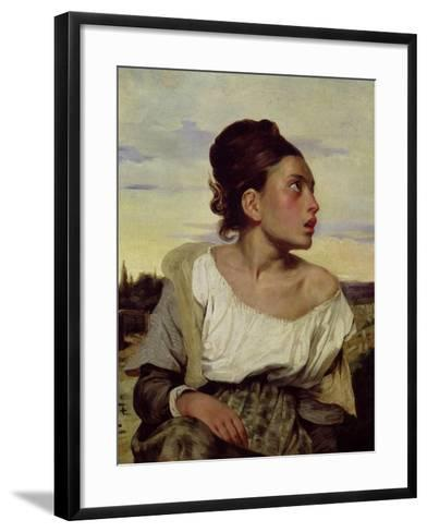 Young Orphan in the Cemetery, 1824-Eugene Delacroix-Framed Art Print