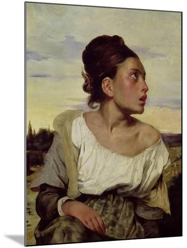 Young Orphan in the Cemetery, 1824-Eugene Delacroix-Mounted Giclee Print