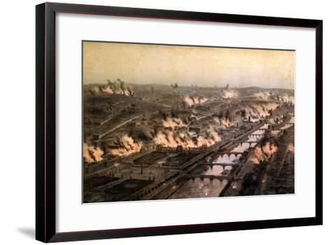 Panorama of the Fires in Paris During the Commune, May 1871-E. Daroy-Framed Art Print