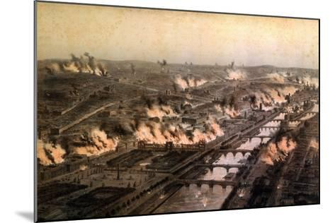 Panorama of the Fires in Paris During the Commune, May 1871-E. Daroy-Mounted Giclee Print