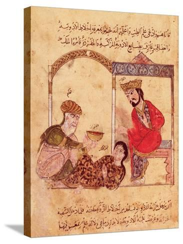 """A Medical Consultation, from """"Book of Kalila and Dimna""""--Stretched Canvas Print"""