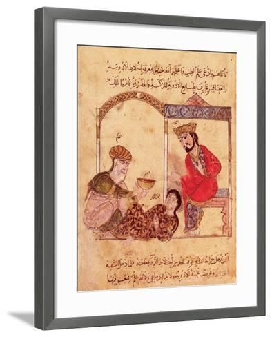 """A Medical Consultation, from """"Book of Kalila and Dimna""""--Framed Art Print"""