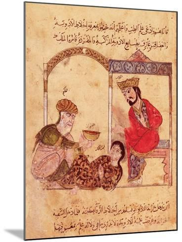 """A Medical Consultation, from """"Book of Kalila and Dimna""""--Mounted Giclee Print"""