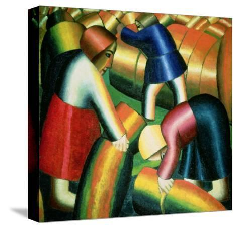 Taking in the Rye, 1912-Kasimir Malevich-Stretched Canvas Print