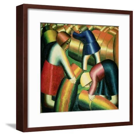 Taking in the Rye, 1912-Kasimir Malevich-Framed Art Print