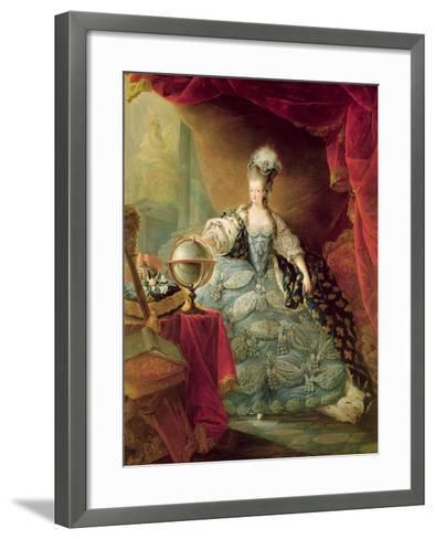 Portrait of Marie Antoinette Queen of France-Jacques Fabien Gautier d'Agoty-Framed Art Print