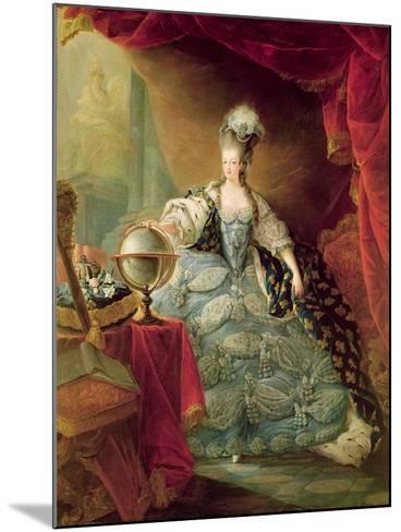 Portrait of Marie Antoinette Queen of France-Jacques Fabien Gautier d'Agoty-Mounted Giclee Print