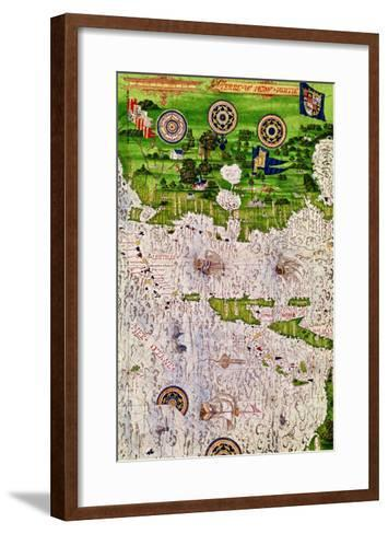 """Map of Peru, from """"Cosmographie Universelle"""", 1555-Guillaume Le Testu-Framed Art Print"""