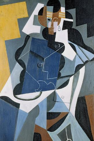 Figure of a Woman, 1917-Juan Gris-Stretched Canvas Print