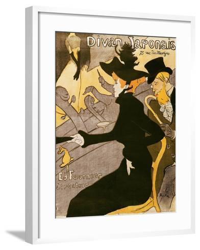 """Poster Advertising """"Le Divan Japonais"""", 1892-Henri de Toulouse-Lautrec-Framed Art Print"""