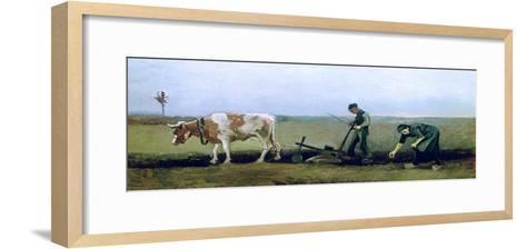 Labourer and Peasant Planting Potatoes, c.1884-Vincent van Gogh-Framed Art Print