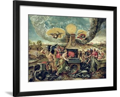 The Forges of Vulcan with Time Turning Weapons into Tools--Framed Art Print