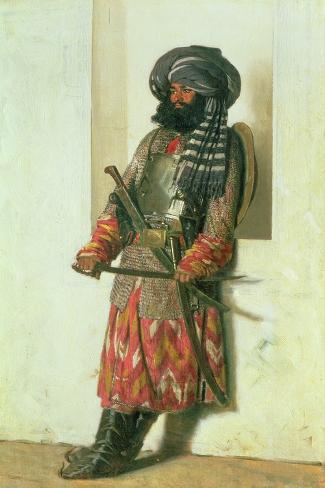 Afghan, 1870-Piotr Petrovitch Weretshchagin-Stretched Canvas Print