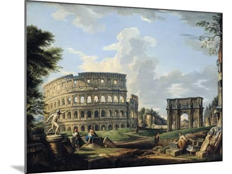 The Colosseum and the Arch of Constantine-Giovanni Paolo Pannini-Mounted Giclee Print