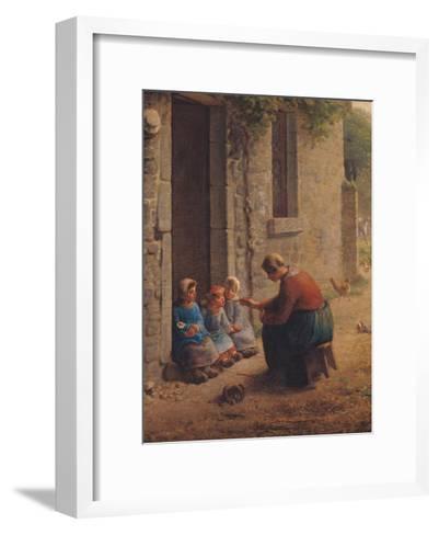 Feeding the Young, 1850-Jean-Fran?ois Millet-Framed Art Print