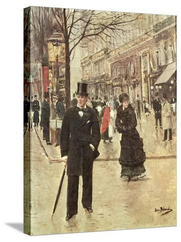 On the Boulevard-Jean B?raud-Stretched Canvas Print
