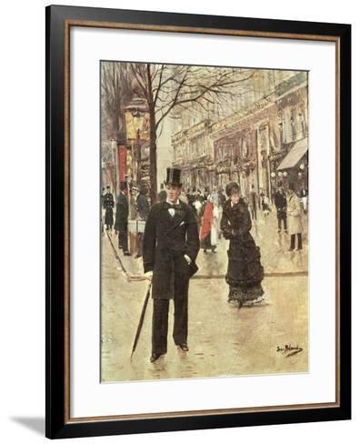On the Boulevard-Jean B?raud-Framed Art Print