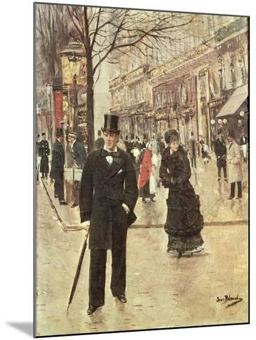 On the Boulevard-Jean B?raud-Mounted Giclee Print