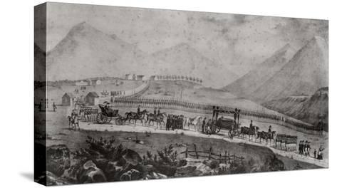 The Funeral Cortege of Napoleon Bonaparte at Saint Helena, 9th May 1821-Jean Joseph Benjamin Constant-Stretched Canvas Print