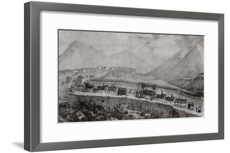 The Funeral Cortege of Napoleon Bonaparte at Saint Helena, 9th May 1821-Jean Joseph Benjamin Constant-Framed Art Print