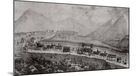 The Funeral Cortege of Napoleon Bonaparte at Saint Helena, 9th May 1821-Jean Joseph Benjamin Constant-Mounted Giclee Print