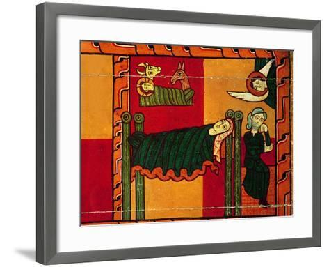 The Nativity, from an Altarpiece, Catalan--Framed Art Print