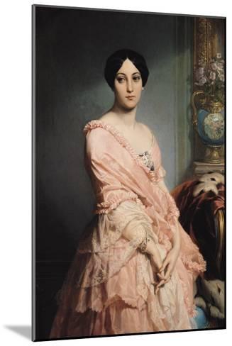Portrait of Madame F, 1850-51-Louis Edouard Dubufe-Mounted Giclee Print