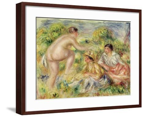 Young Girls in the Countryside, 1916-Pierre-Auguste Renoir-Framed Art Print