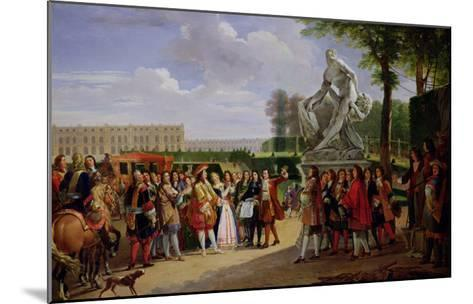 """Louis XIV Dedicating Puget's """"Milo of Crotona"""" in the Gardens at Versailles, 1819-Anicet-Charles Lemonnier-Mounted Giclee Print"""
